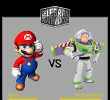 Mario Bros vs Buzz Lightyear by NeRdOmAnIa