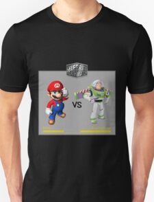 Mario Bros vs Buzz Lightyear Unisex T-Shirt