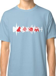 Chicago Flag with Teams and Skyline 2 Classic T-Shirt