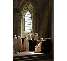 The Sitting Nun - Abbaye du Vézelay Photographic Print