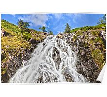 Waterfall near Easdale Tarn, Grasmere Poster