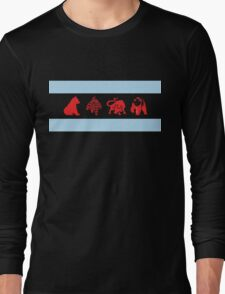Chicago Flag with Teams Long Sleeve T-Shirt