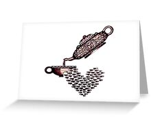 Cup of Heart surreal black and white pen ink drawing Greeting Card