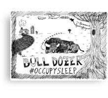 Occupy Sleep editorial cartoon Canvas Print