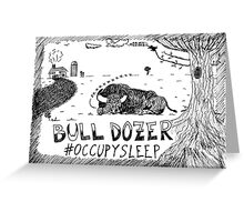 Occupy Sleep editorial cartoon Greeting Card