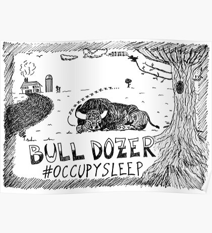 Occupy Sleep editorial cartoon Poster