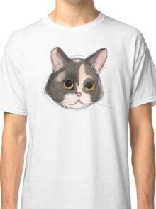 Watercolor Kitten Face Classic T-Shirt