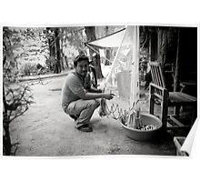 Fisherman in Nai Yang, Thailand Poster