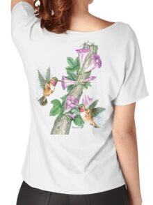 Humming Birds Feeding on Morning Glory Women's Relaxed Fit T-Shirt
