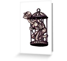 Freedom surreal black and white pen ink drawing Greeting Card