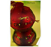 Red and Green Merry Christmas Poster