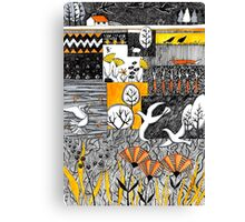 Who is lurking in my allotment? Canvas Print