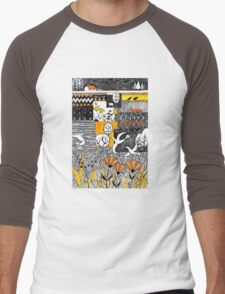 Who is lurking in my allotment? Men's Baseball ¾ T-Shirt
