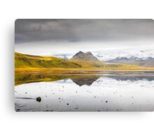Views from the Causeway to Dyrholeay, Iceland Metal Print