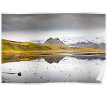 Views from the Causeway to Dyrholeay, Iceland Poster