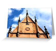 Old medieval town architecture details from Romania Greeting Card