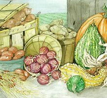 Fall Harvest by clotheslineart