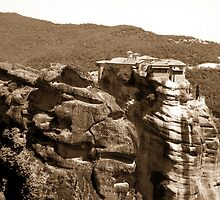Beautiful mountain landscape from Meteora in Greece by queensoft