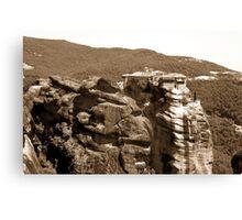 Beautiful mountain landscape from Meteora in Greece Canvas Print