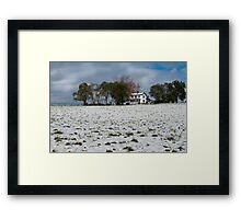 October Snow Framed Print