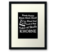 Bloddy Khorne Framed Print