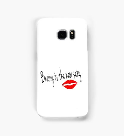 Brainy is the new Sexy-Irene Adler (Sherlock BBC) Samsung Galaxy Case/Skin