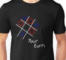 Noughts & Crosses (Tic-tac-toe) (White Text) Unisex T-Shirt