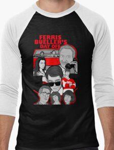 Ferris Bueller collage art Men's Baseball ¾ T-Shirt