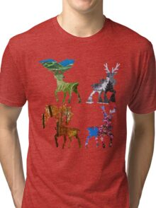 Seasonal sawsbuck Tri-blend T-Shirt
