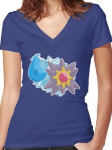Cascade Badge Starmie Women's Fitted V-Neck T-Shirt