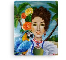 Caribbean girl Canvas Print