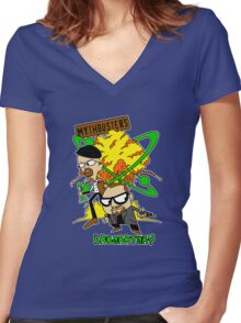 Mythbuster's Lab Women's Fitted V-Neck T-Shirt