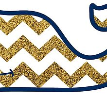 Gold Glitter Chevron VV Whale by dragon-s