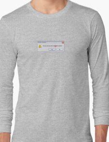 Delete Cookies Long Sleeve T-Shirt