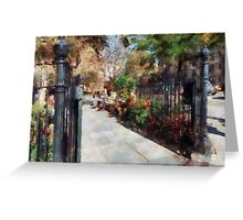 Abingdon Square Park Greenwich Village Greeting Card