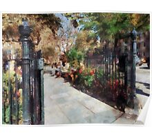 Abingdon Square Park Greenwich Village Poster