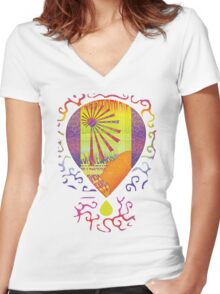 Psychedelia Clear Women's Fitted V-Neck T-Shirt