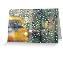 NYC hard rain Greeting Card