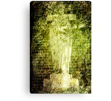 Angel Green Canvas Print