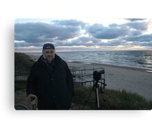 Me and Baltic sea at autumn Canvas Print