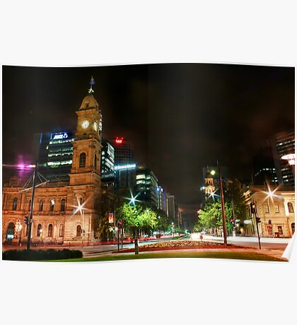 Adelaide Night Scenery Poster