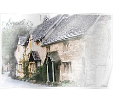 English Cottages - Gloucestershire Poster