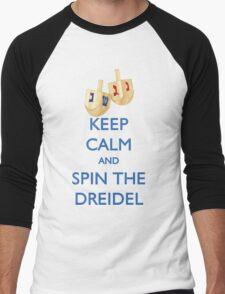HANUKKAH - KEEP CALM AND SPIN THE DREIDEL Men's Baseball ¾ T-Shirt