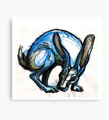 Blue Rabbit Canvas Print