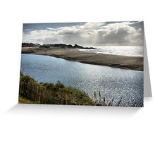 The River Meets the Sea Greeting Card