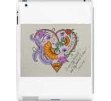 Heart, Song of Songs iPad Case/Skin