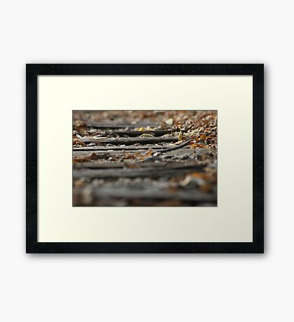 The Rail Road Ties Framed Print
