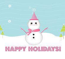 Cute Snowman by sweettoothliz