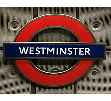 Westminster Tube Stop Photographic Print