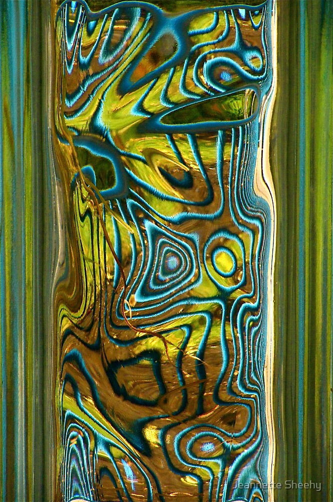 Green Blue Glass I by Jeannette Sheehy